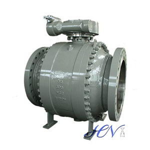 A216 WCB Flanged Electric Actuated Trunnion Mounted Ball Valve