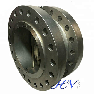 Backflow Double Flanged Stainless Steel Oil Duo Plate Check Valve