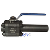 Lever Operated One Nipple Forged Steel Floating Ball Valve