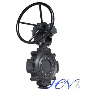 Triple Eccentric Industrial Carbon Steel Gear Operated Lug Type Butterfly Valve