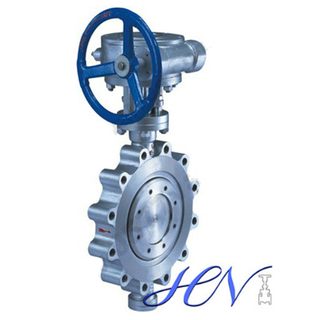 Fully Lugged Gear Operated Stainless Steel Double Eccentric Butterfly Valve Used for Isolation