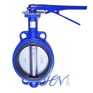 Wrench Operated Concentric Cast Iron Wafer Type Butterfly Valve