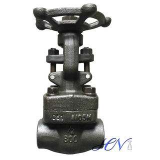 Carbon Steel Forged Socket Welding Ends Solid Gate Valve