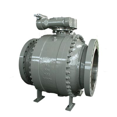 Motorized-Cast-Steel-Fire-Safe-Trunnion-Mounted-Ball-Valve