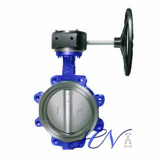 Carbon Steel Gear Operated Fully Lugged Double Eccentric Butterfly Valve