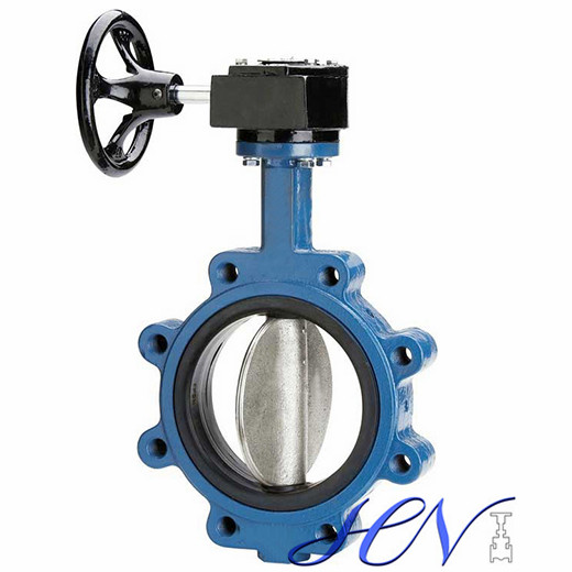 Worm Gear Lug Type Industrial Soft Seated Centric Butterfly Valve
