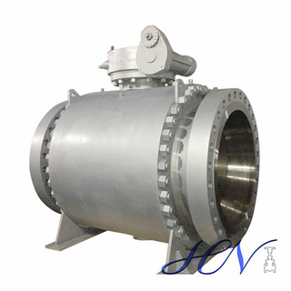 High Pressure Fire Safe Flanged Boiler Drain Trunnion Mounted Ball Valve