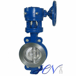 Wafer Type Gear Operated Carbon Steel Quick Opening Triple Offset Butterfly Valve