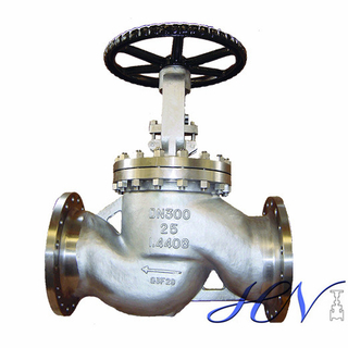 DIN Stainless Steel Flanged Manual Gas Globe Valve