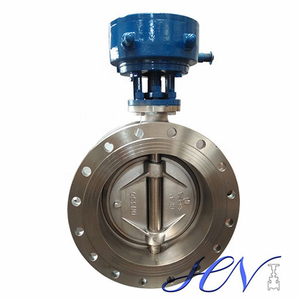 Manual Carbon Steel Double Flange Quick Opening Double Eccentric Butterfly Valve