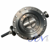 Bare Stem Double Flanged Cast Steel Industrial Triple Offset Butterfly Valve