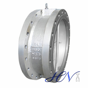 Carbon Steel Low Pressure Dual Plate Double Flanged Check Valve