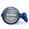 Hard Seal Carbon Steel Double Flange Gear Operated Double Offset Butterfly Valve