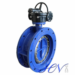 Industrial Cast Iron Double Flange Soft Seated Centric Butterfly Valve