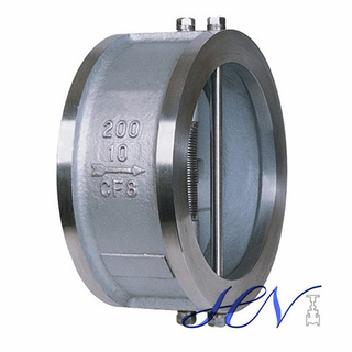 API 594 Air Pump Stainless Steel Wafer Spring Loaded Dual Plate Check Valve