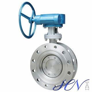 Manual Industrial Flange Type Carbon Steel Double Offset Butterfly Valve