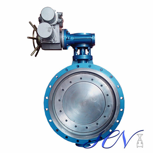 API 609 Electric Operated Flange Type Industrial Double Eccentric Butterfly Valve