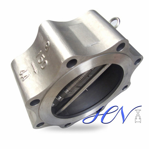 Backflow Duplex Stainless Steel Spring Loaded Dual Plate Lug Type Check Valve