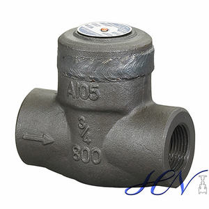 Lift Type One Way Forged Steel Threaded Welded Bonnet Check Valve