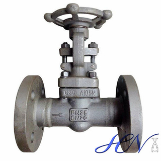 Integral Flanged Forged Steel Handwheel Central Heating Gate Valve