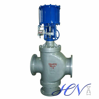 3-way Pneumatic Operated Carbon Steel Flanged Control Valve